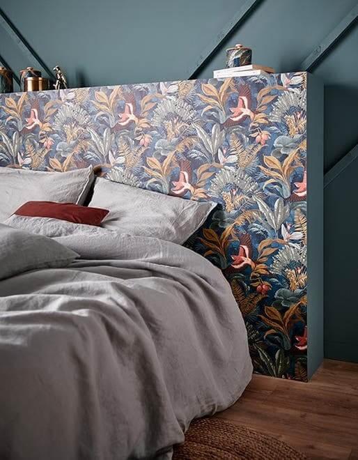 tete de lit papier peint pour la chambre adulte 1 - Quel papier peint pour la chambre d'adulte ?