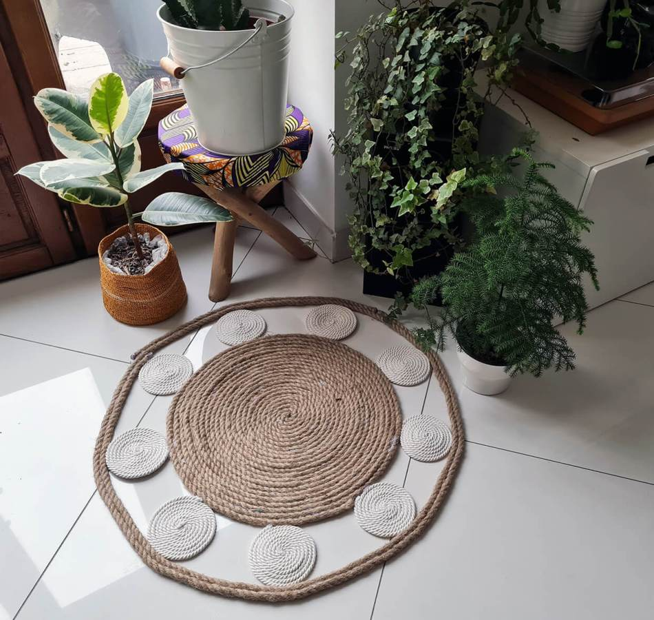 DIY bohème : fabriquer un tapis mandala avec des cordes