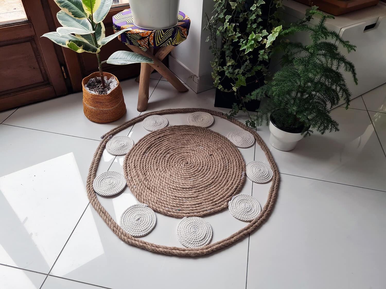 20210107 104416 - DIY bohème : fabriquer un tapis mandala avec des cordes