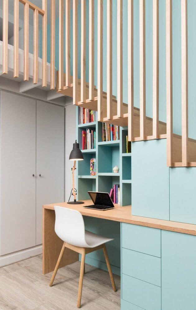 coin bureau style scandinave amenegement sous escalier e1515676184183 1 - Aménager un bureau dans un petit espace