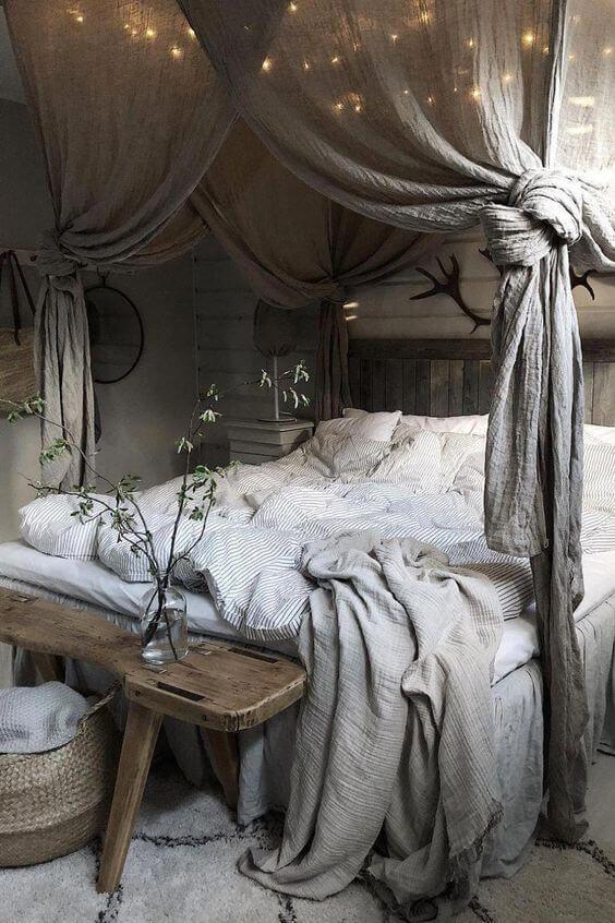 deco chambre lit baldaquin couleur verte - Tendances meubles et décoration 2021 : le grand décryptage