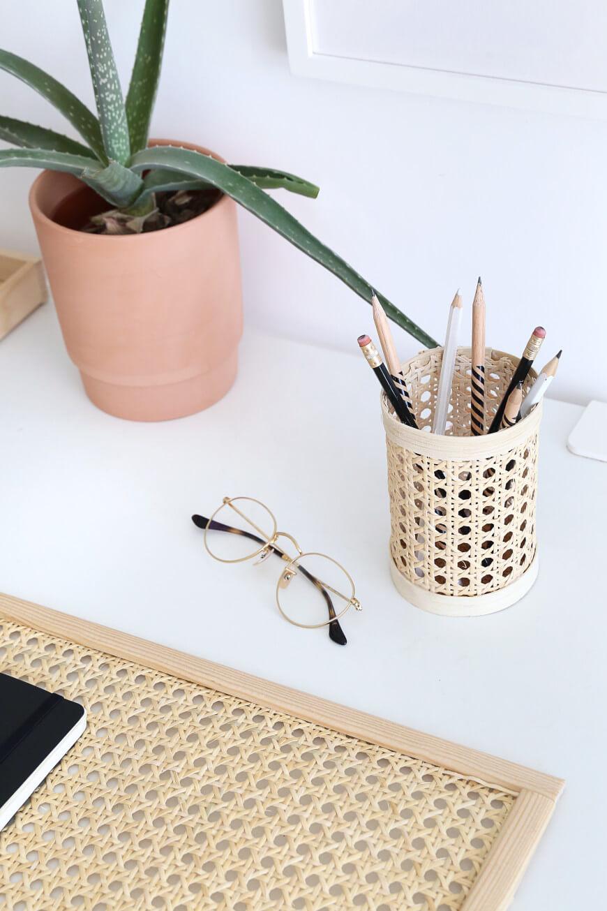 Mademoiselle Claudine - 12 DIY faciles à reproduire pour un bureau fait-maison et zéro déchet