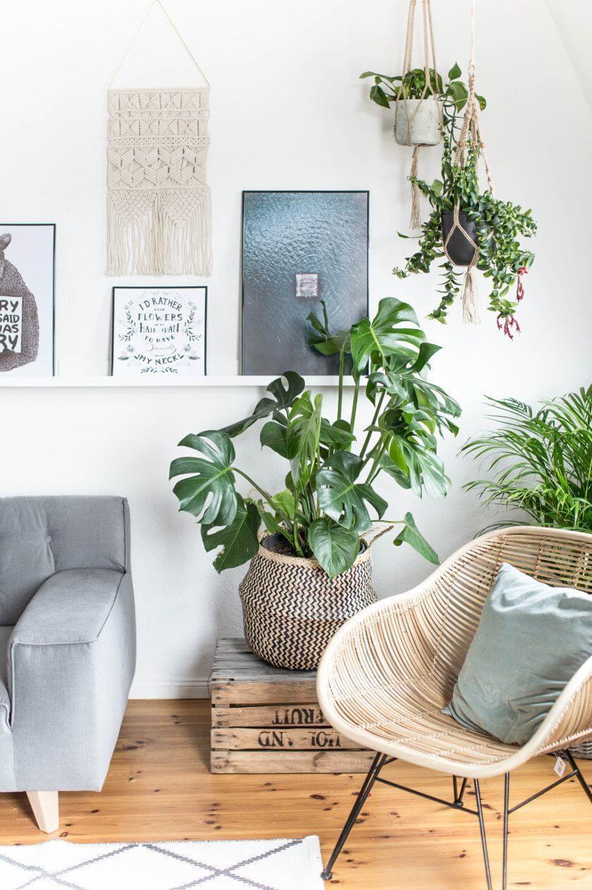 les materiaux naturels en vedette 6107723 - Inspiration déco : 16 façons d'embellir les murs du salon