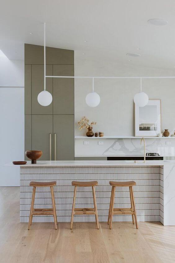 cuisine style de decoration design blanche et verte - Mes conseils pour trouver son style de décoration
