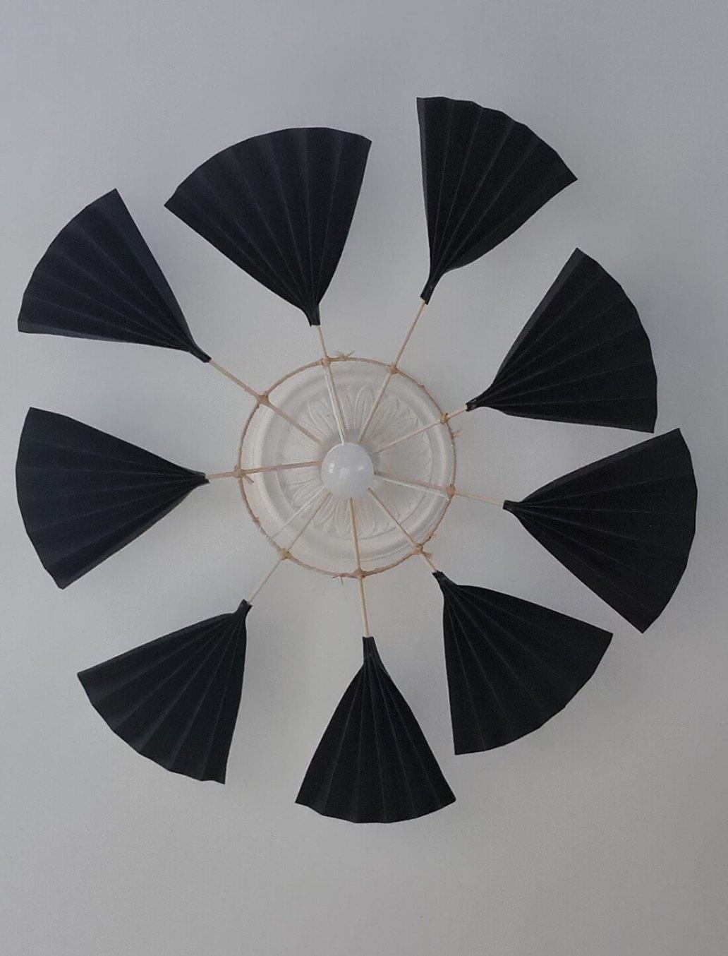 20210930 141159 - Fabriquer un lustre palmier avec des feuilles en papier