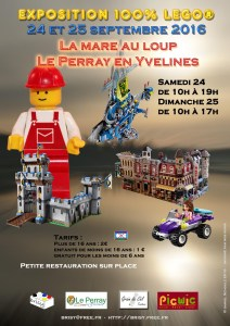 Exposition 100% LEGO® Brisy @ La Mare au Loup - Le Perray en Yvelines