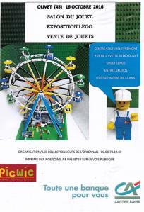 Salon du Jouet et Exposition LEGO® @ Centre culturel Yvremont - Olivet