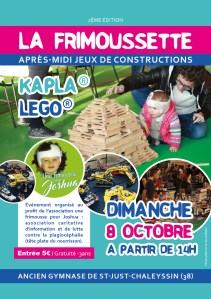"""Animation LEGO® et KAPLA® pour l'association """"Une Frimousse pour Joshua"""" @ Ancien gymnase - Saint-Just-Chaleyssin (38)"""
