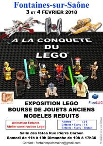 Exposition LEGO et Bourse aux jouets anciens et modèles réduits @ Salle des fêtes rue Pierre Carbon - Fontaines-sur-Saône