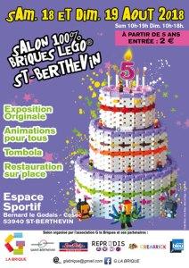 Exposition 100% LEGO® G La Brique 2018 @ Complexe Sportif Bernard Le Godais - Saint-Berthevin