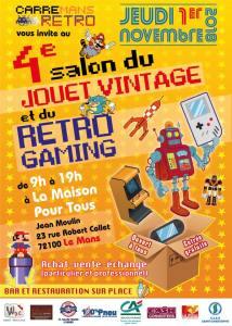 4ème Salon du jouet Vintage et Rétrograming @ Maison pour tous Jean Moulin - Le Mans