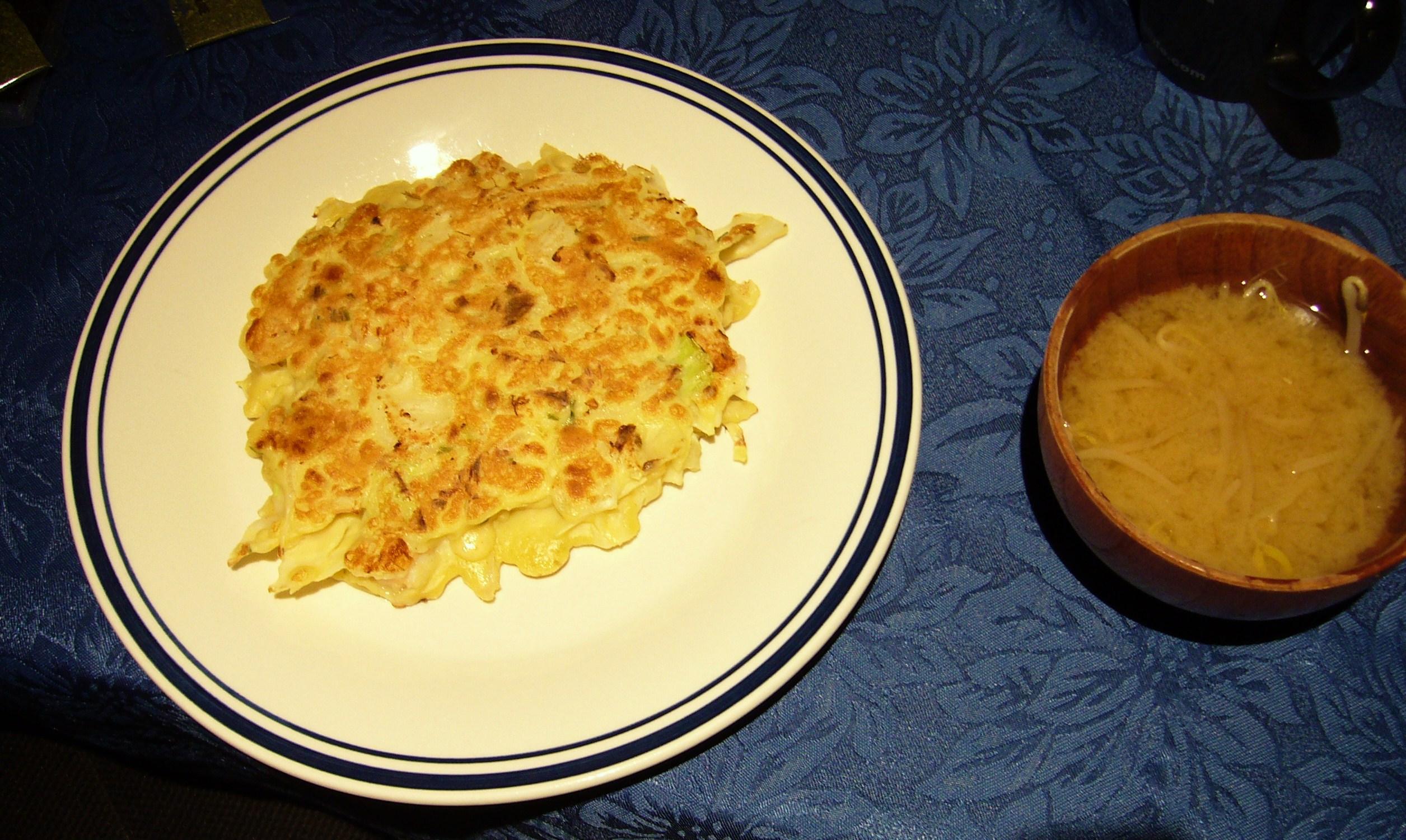 Okonomiyaki and soup