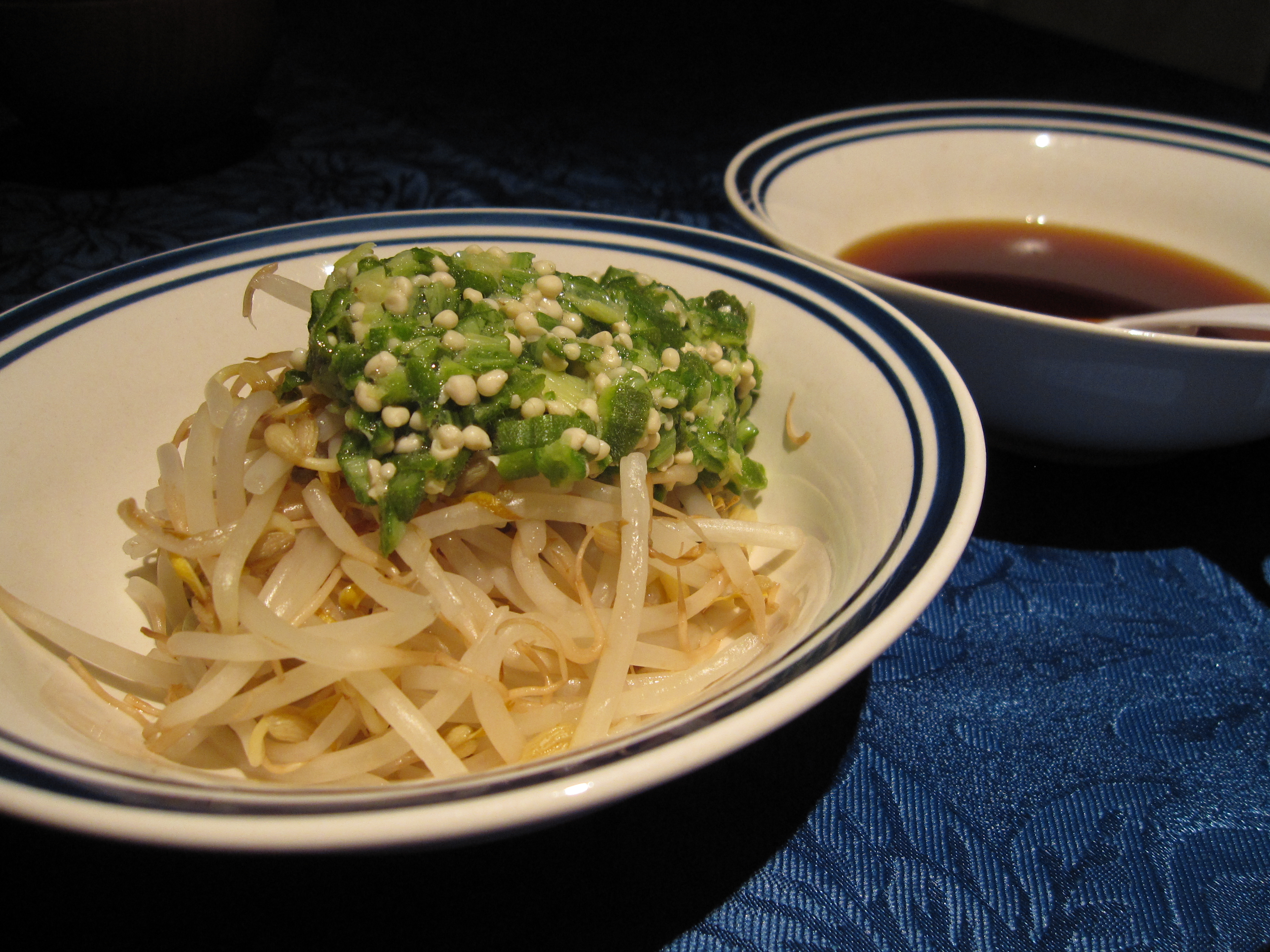 Bean sprouts & okra