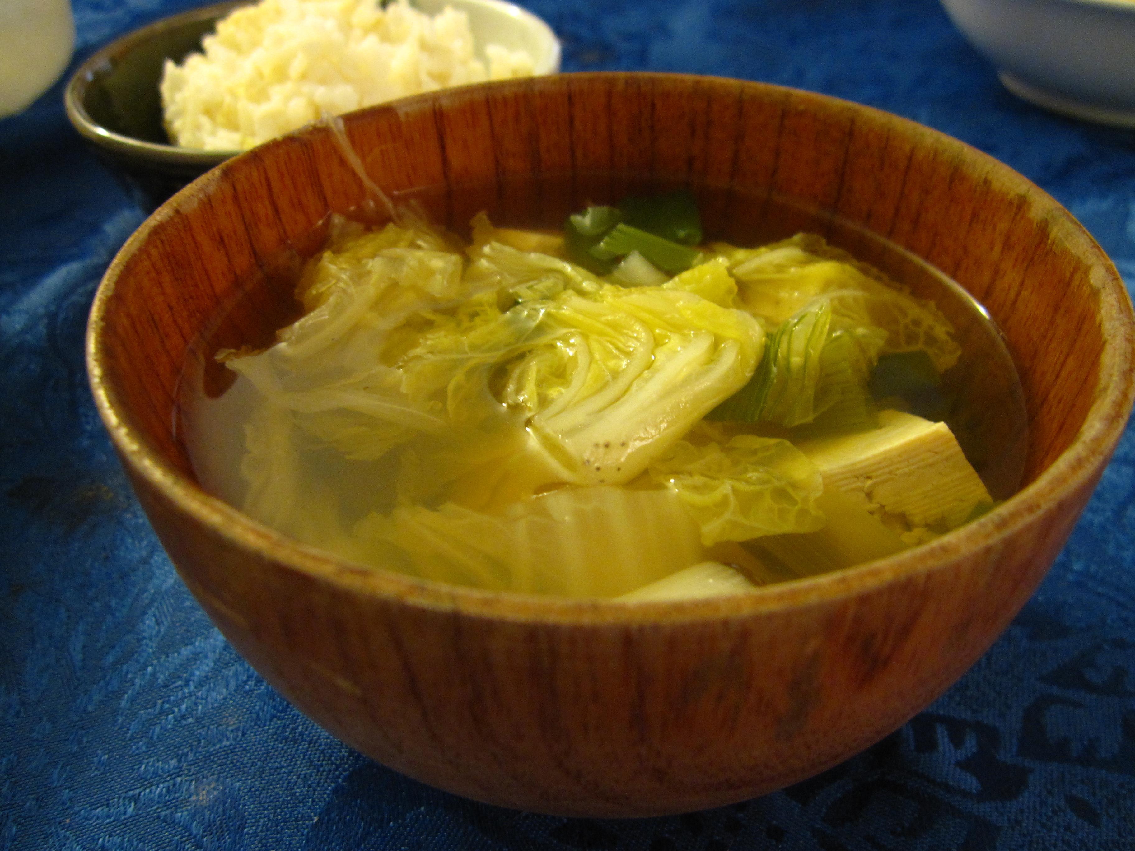 Napa tofu soup