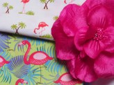 Motif flamants roses