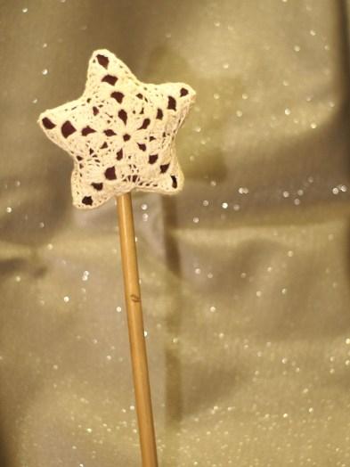 Baguette magique de fée en crochet - DIY - tutoriel - couture