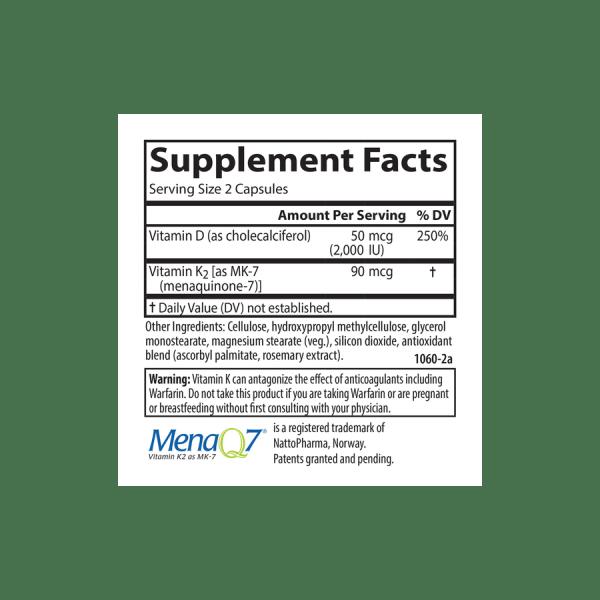 Facts Carlson Vitamin D3 K2