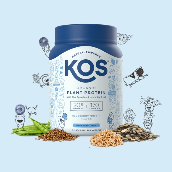 KOS Organic Plant Protein vị Blueberry Muffin