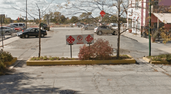 A typical cul-de-sac, at 92nd Place and Western Avenue, with narrow openings, high curbs, and trees that inhibit bicycling through. Image: Google Street View