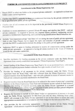 illiana fact sheet about proposed legislation