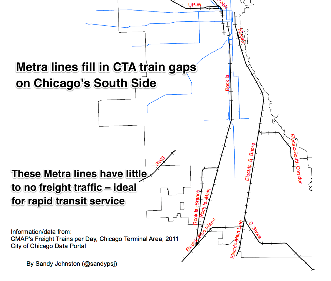 High Speed Rail Association Use Metra Tracks For OHare Express - Chicago terminal map
