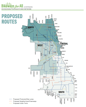 proposed routes bikeways for all