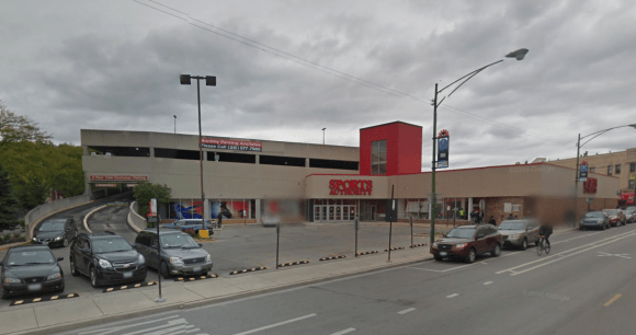 Sports Authority, which filed for bankruptcy, will sell all of its property and likely close. This is a large parcel that could be TOD because it's near the Belmont Red/Brown Line station.