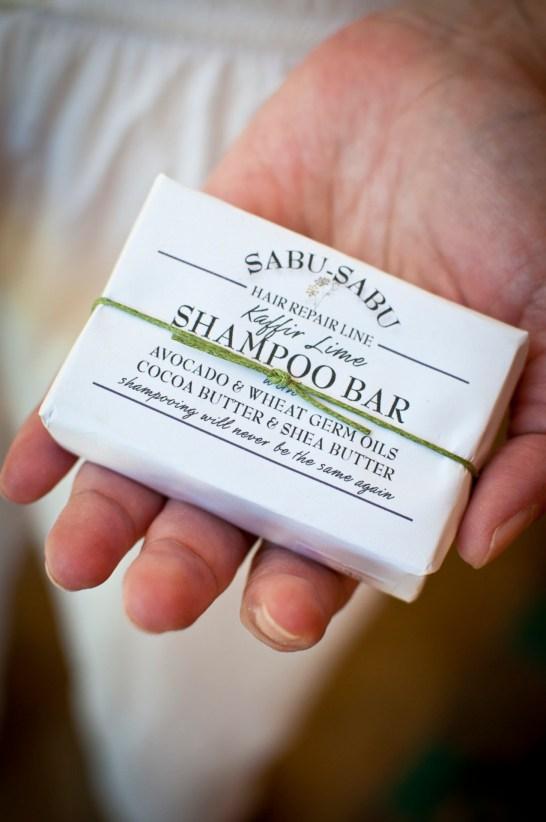 Kaffir lime shampoo bar by Sabu-Sabu