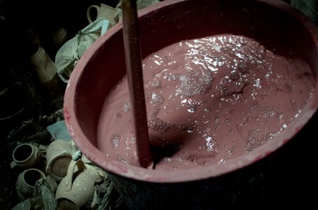 preparing the glaze