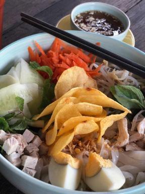 Delicious noodle salad