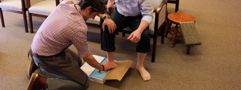 Taking Impressions for Orthotic Molds at Chiappetta Shoes