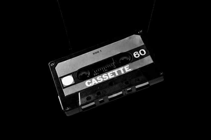 white and black cassette