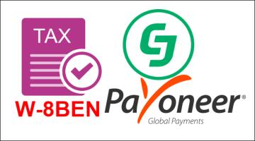 Khai báo thuế và nhập phương thức thanh toán Payoneer trên CJ