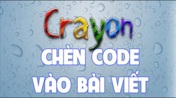 Thêm đoạn code hướng dẫn vào bài viết bằng Crayon Syntax Highlighter