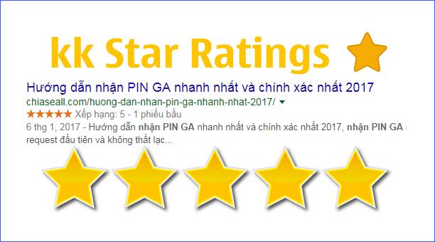 KK Star Ratings – Plugin hiển thị đánh giá bài viết 5 sao trên Google search