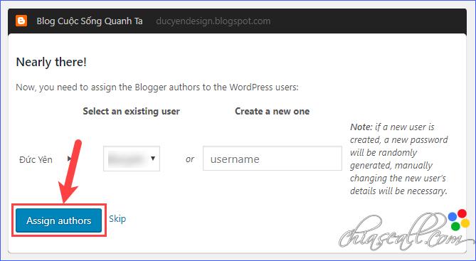 chuyển blog từ bloger sang wordpress