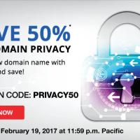 Bộ tứ giảm giá 50% Domain Privacy, chỉ còn 4.49$/năm