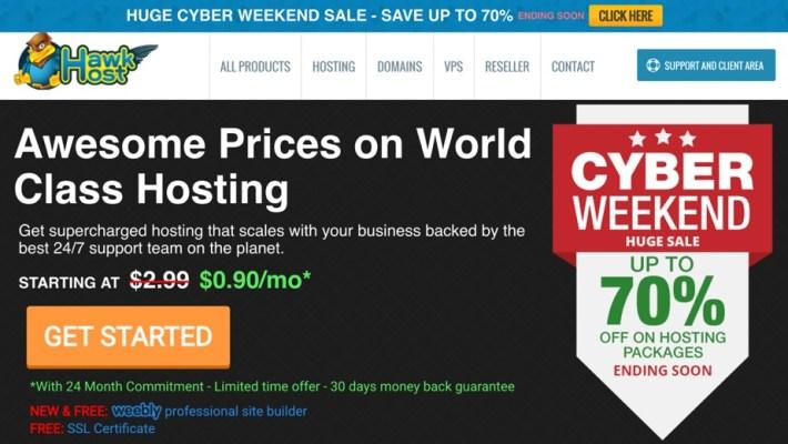 Cyber Monday – Hawk Host giảm giá lên tới 70%
