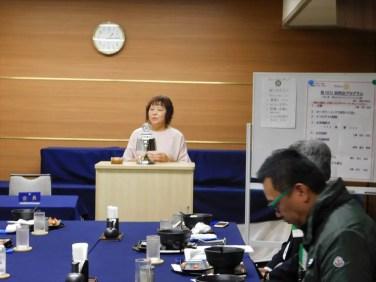 土橋次年度クラブ奉仕委員長より来期の活動方針について