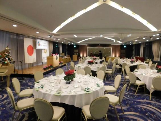 京成ホテルミラマーレ16F スカイバンケットにて忘年家族例会開催