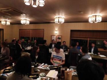 亥庵にて歓迎会開催