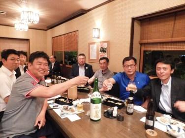 韓国の皆様は、日本酒がお好きなようです。乾杯 コンベ!