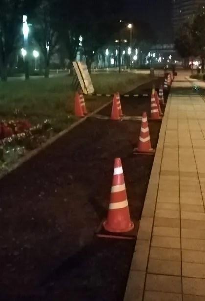 CNT中央駅北口の歩道工事04