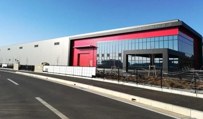 竣工間近の彦山精機さん工場。