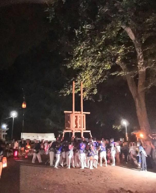 2019 阿夫利神社の梯子立てに行きました!14