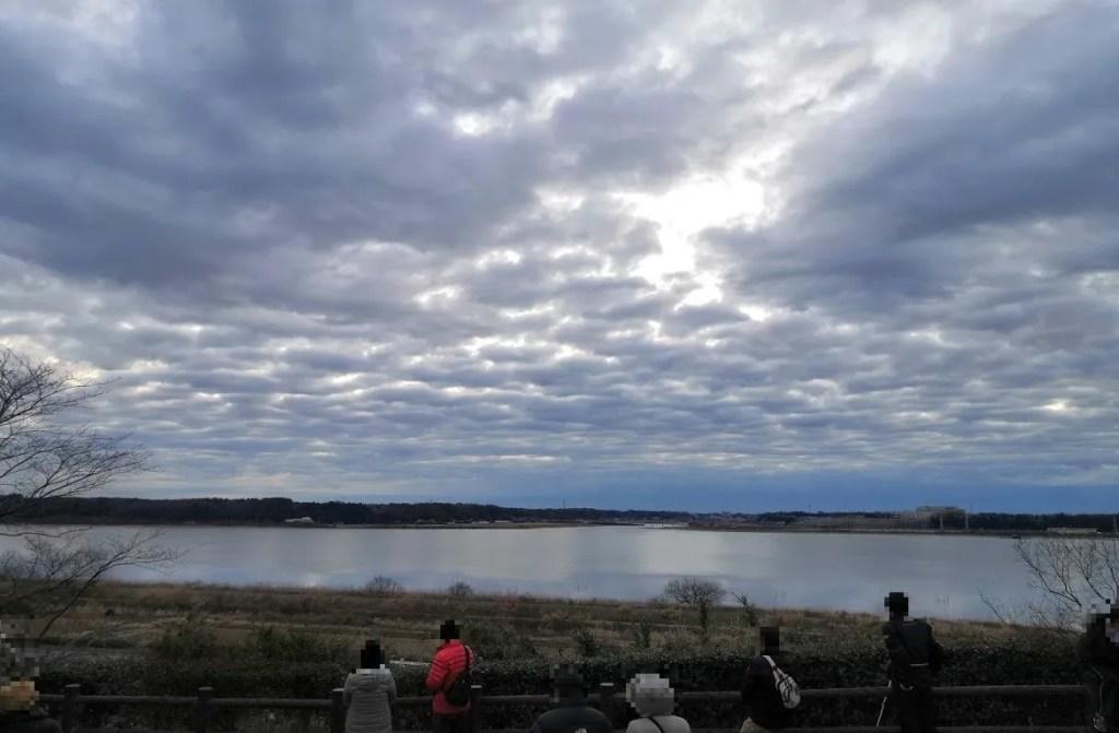 2020年の印旛沼公園の初日の出。02