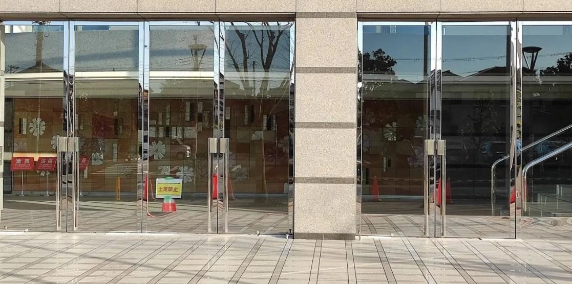 工期が延期された印西文化ホールと大森図書館の様子、202012。02