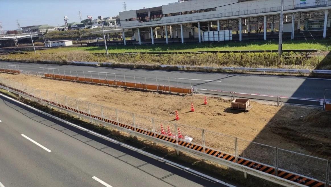 千葉ニュータウン中央駅近くの464でやってる工事。02