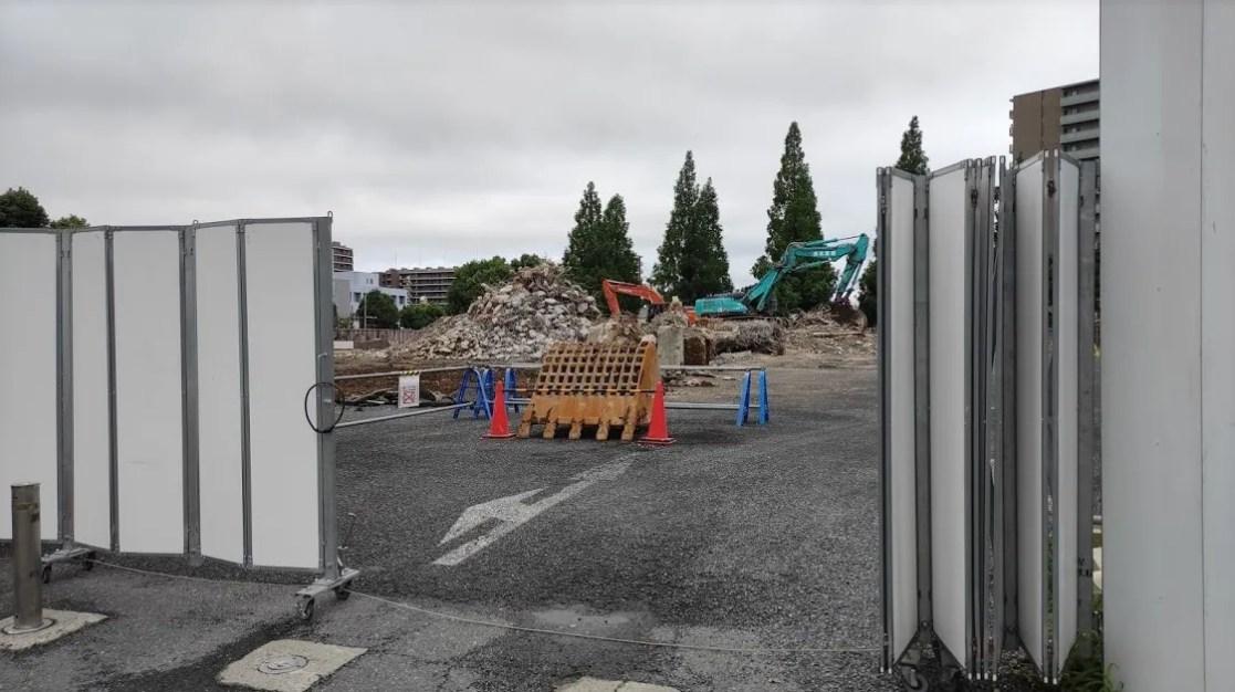 「トライアル」千葉ニュータウン店の解体状況、202107。03