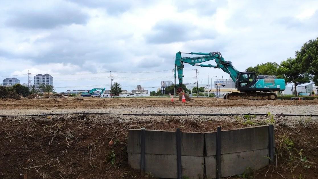「トライアル」千葉ニュータウン店の解体状況、202108。03